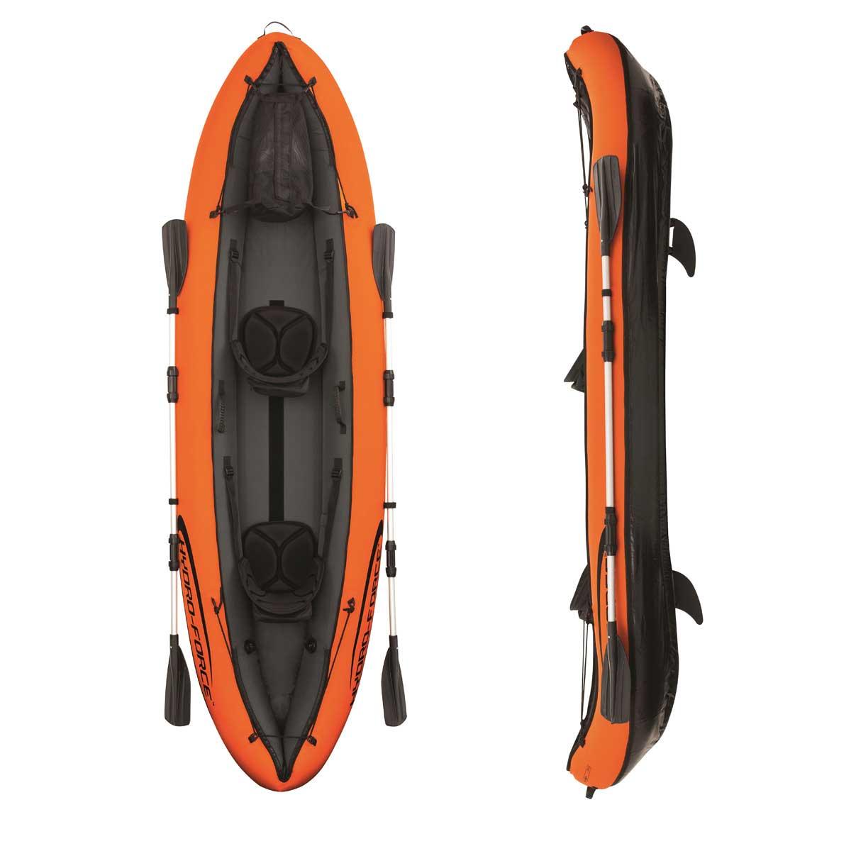 Oars River//Sea Bestway Hydro-Force Ventura 2 Man//Person Inflatable Canoe//Kayak