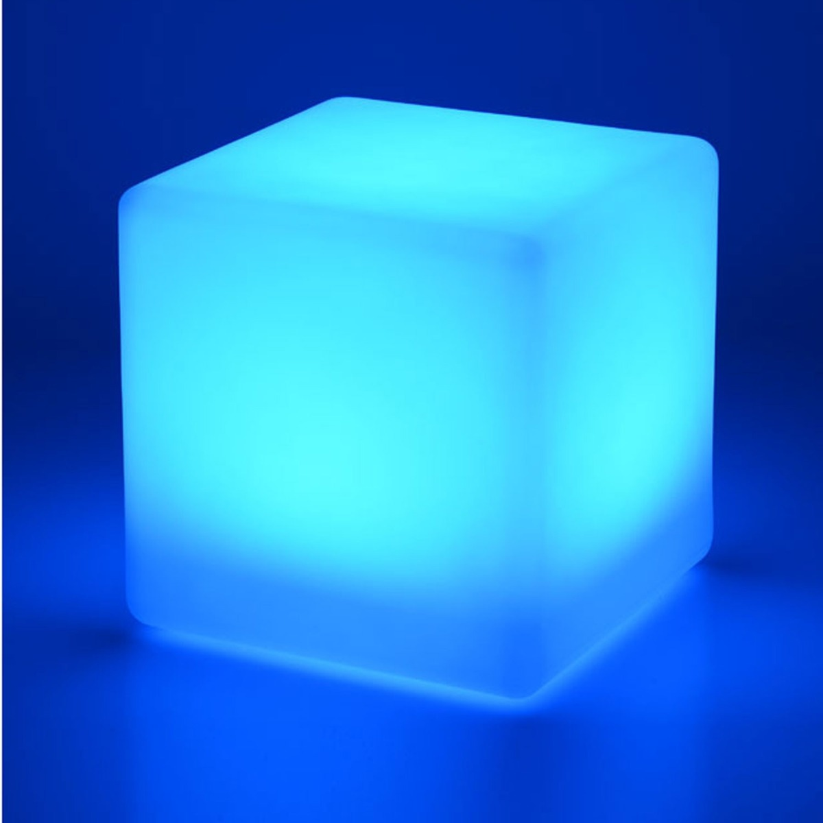 Image of 40cm Colour Changing LED Cube Stool