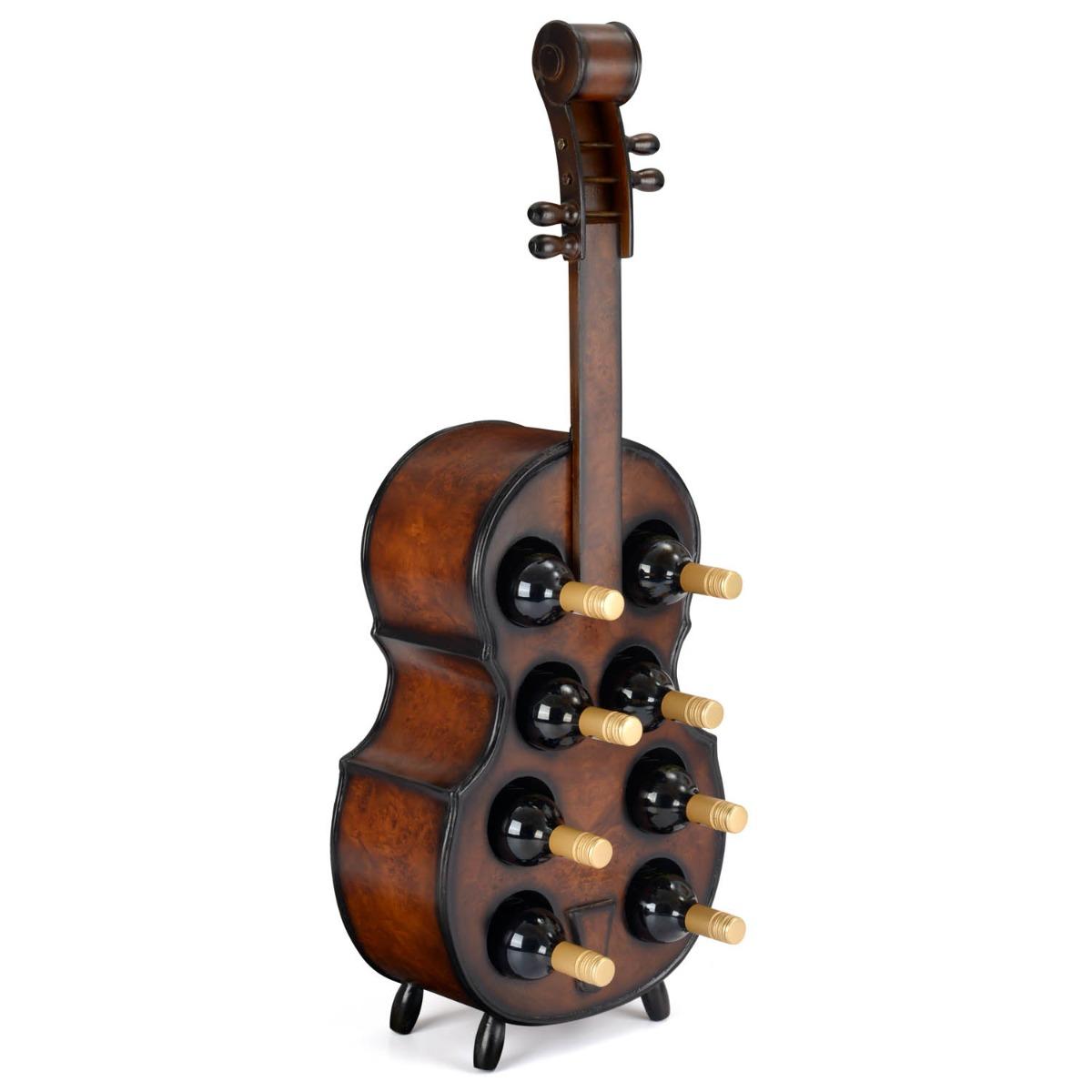Image of 8 Bottle Wooden Cello Wine Rack