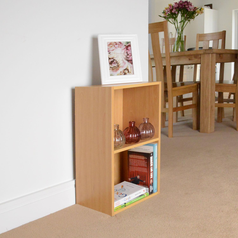 Image of Christow 2 Shelf Wooden Storage Unit (Beech)