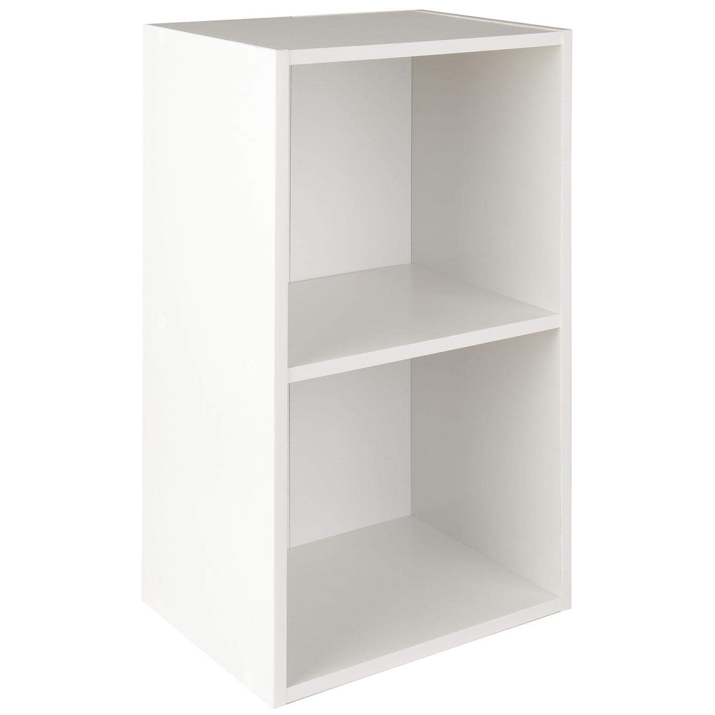 Image of Christow 2 Shelf White Wooden Storage Unit