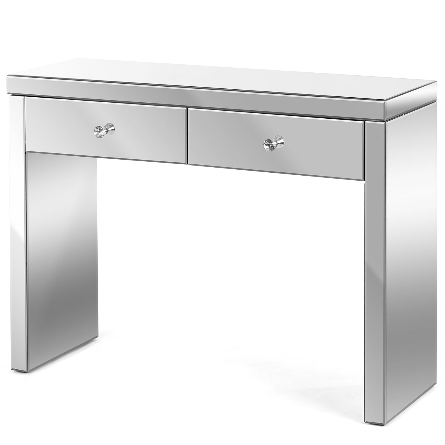 Image of Christow 2 Drawer Mirrored Console Table