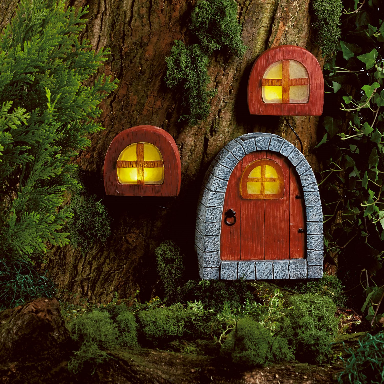 Image of Christow Solar Powered Fairy Door & Windows