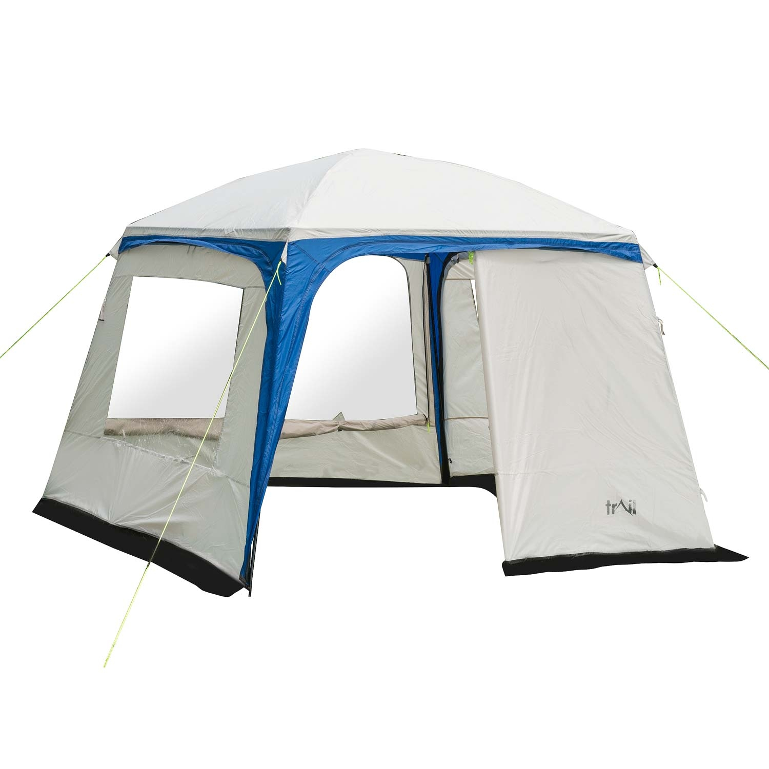 Trail Deluxe Gazebo With Sides 3m X 3m - Blue