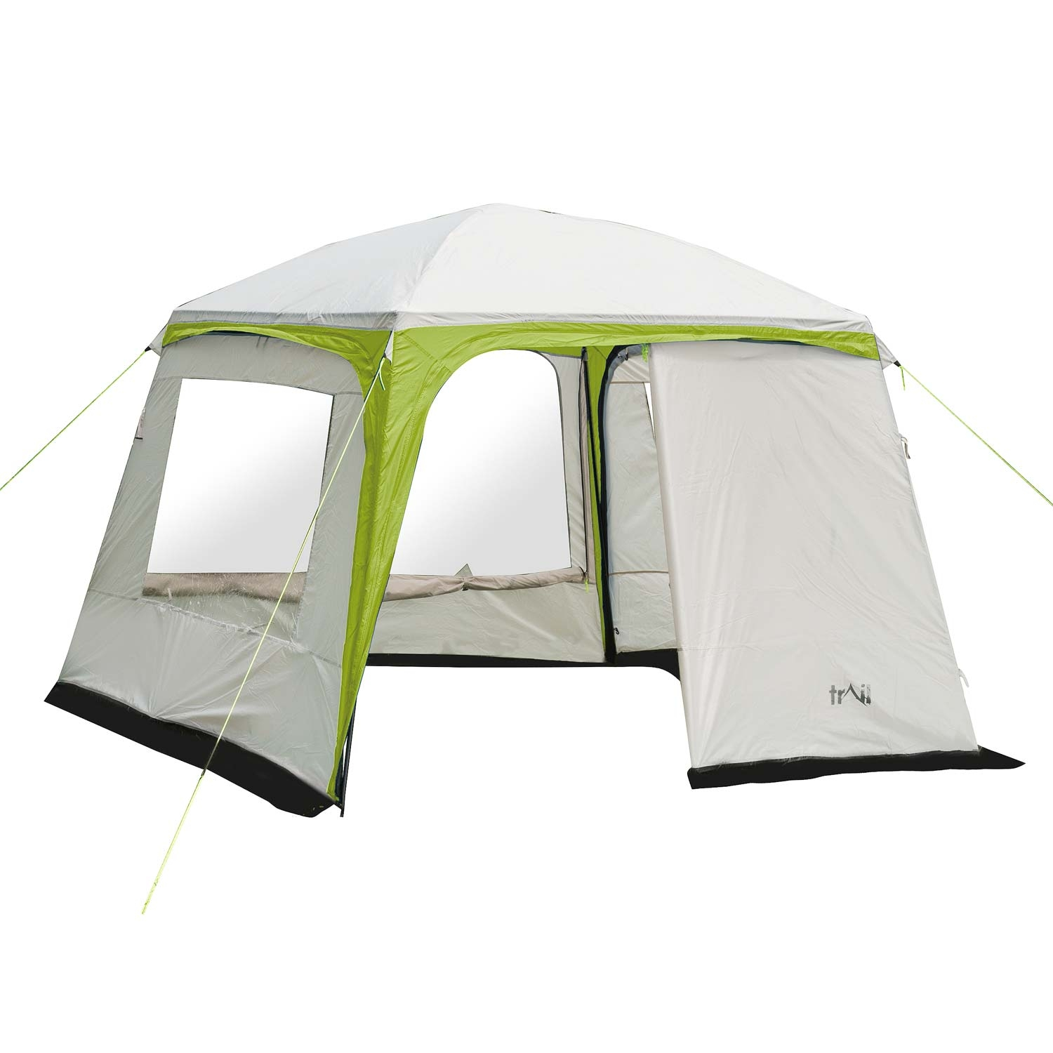 Trail Deluxe Gazebo With Sides 3m X 3m - Green