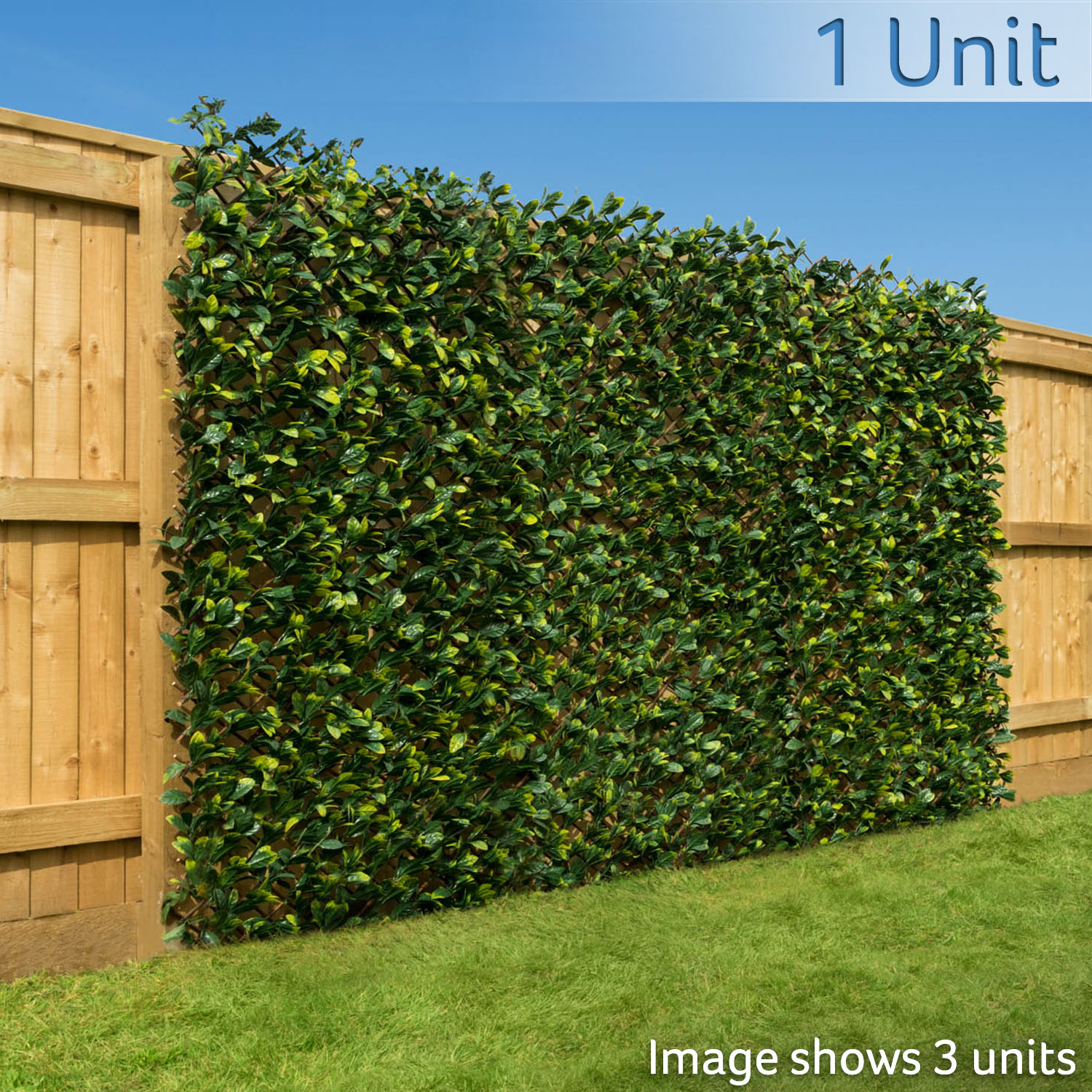 Image of Trellis With 2 Tone Leaves (1m x 2m)