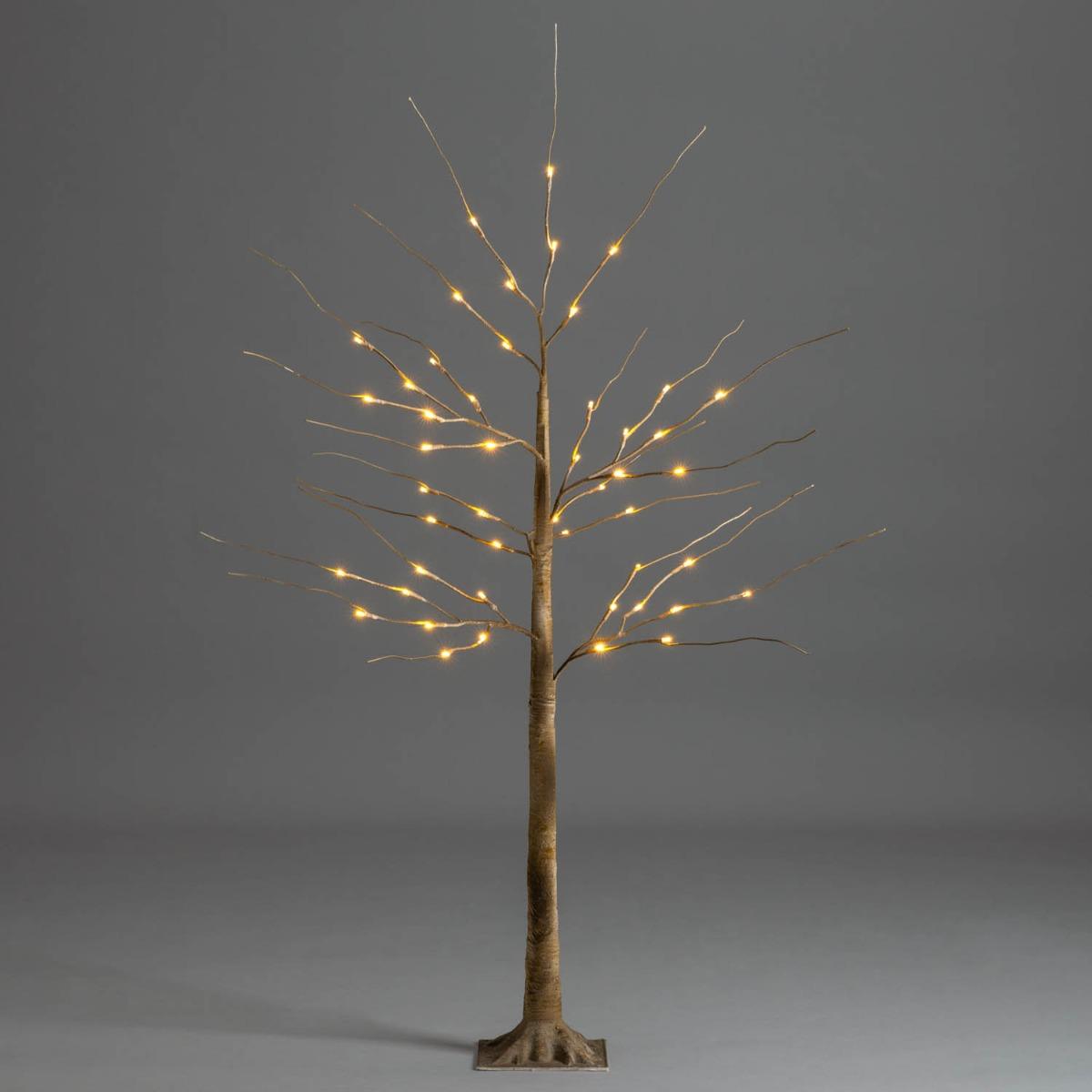 60cm Christmas Birch Tree Warm White Pre Lit Twig Light For Home Party DIY Decor