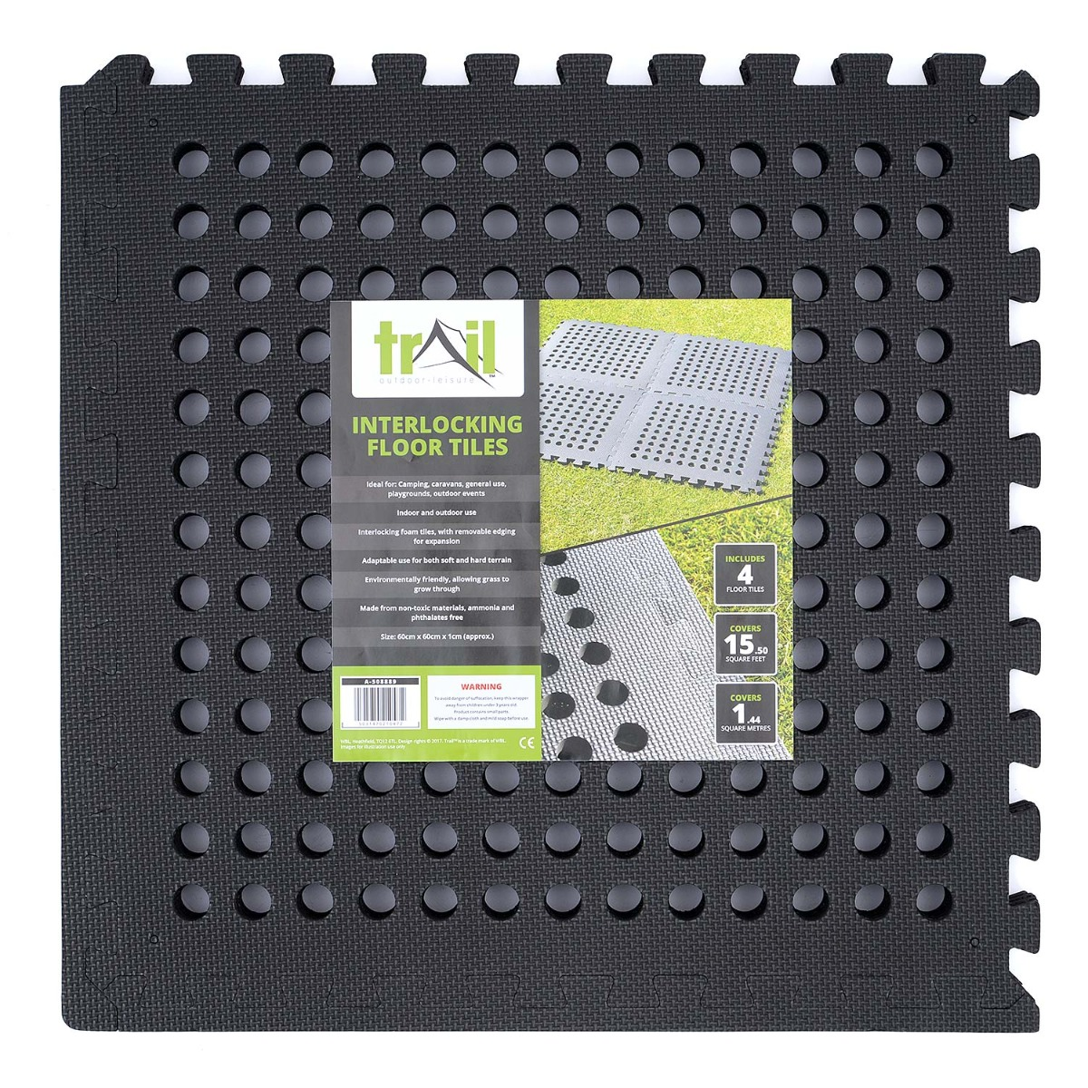 Interlocking Square Drainage Flooring - 4 Mats