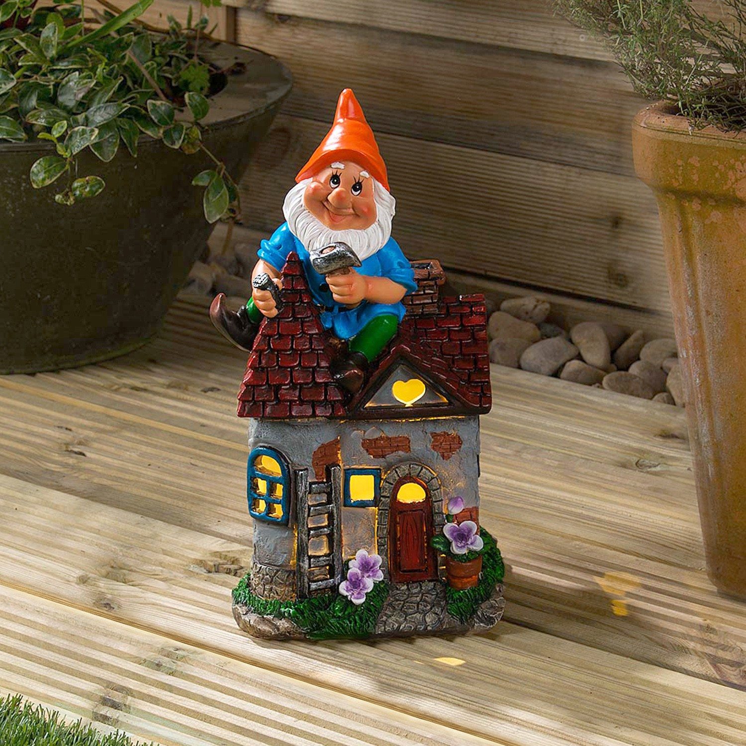 Image of Christow Solar Powered Gnome Fixing House