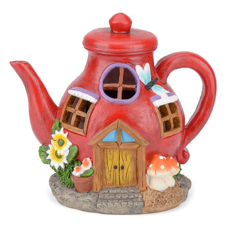 Image of Christow Solar Powered Teapot Fairy House