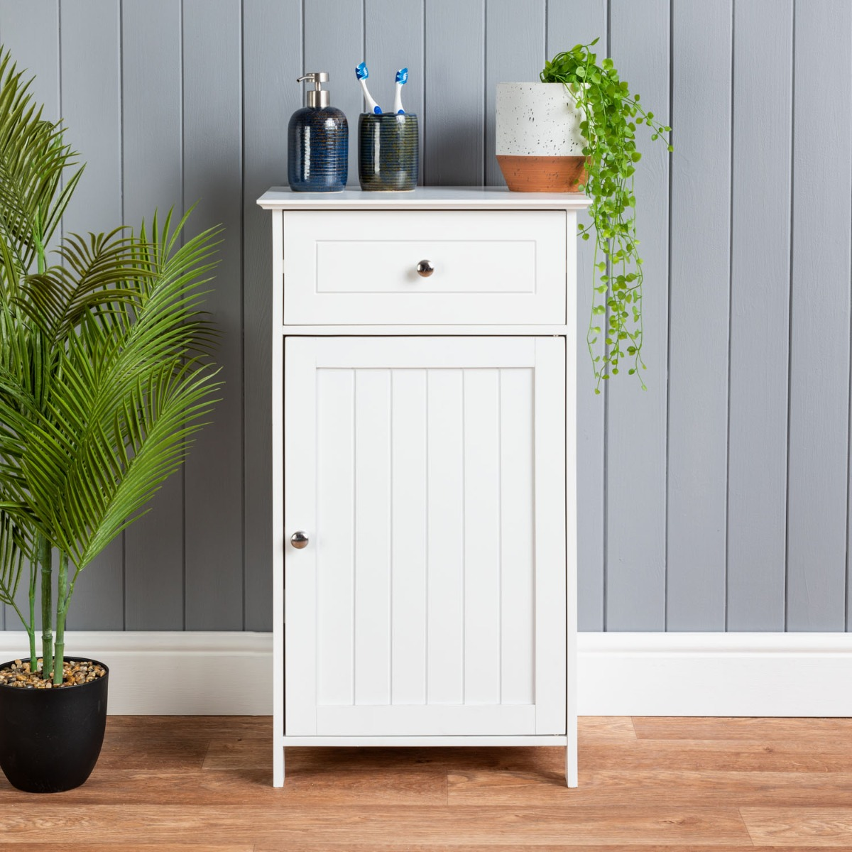 Image of White Drawer Cabinet