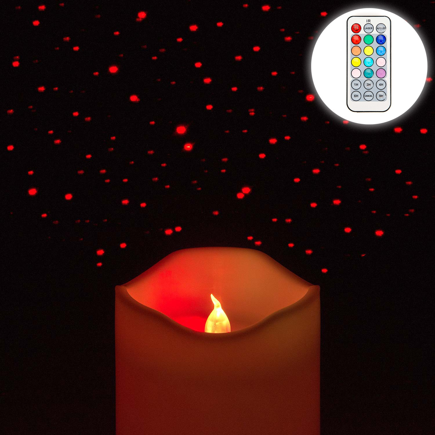 Image of Christow Colour Changing LED Laser Candle