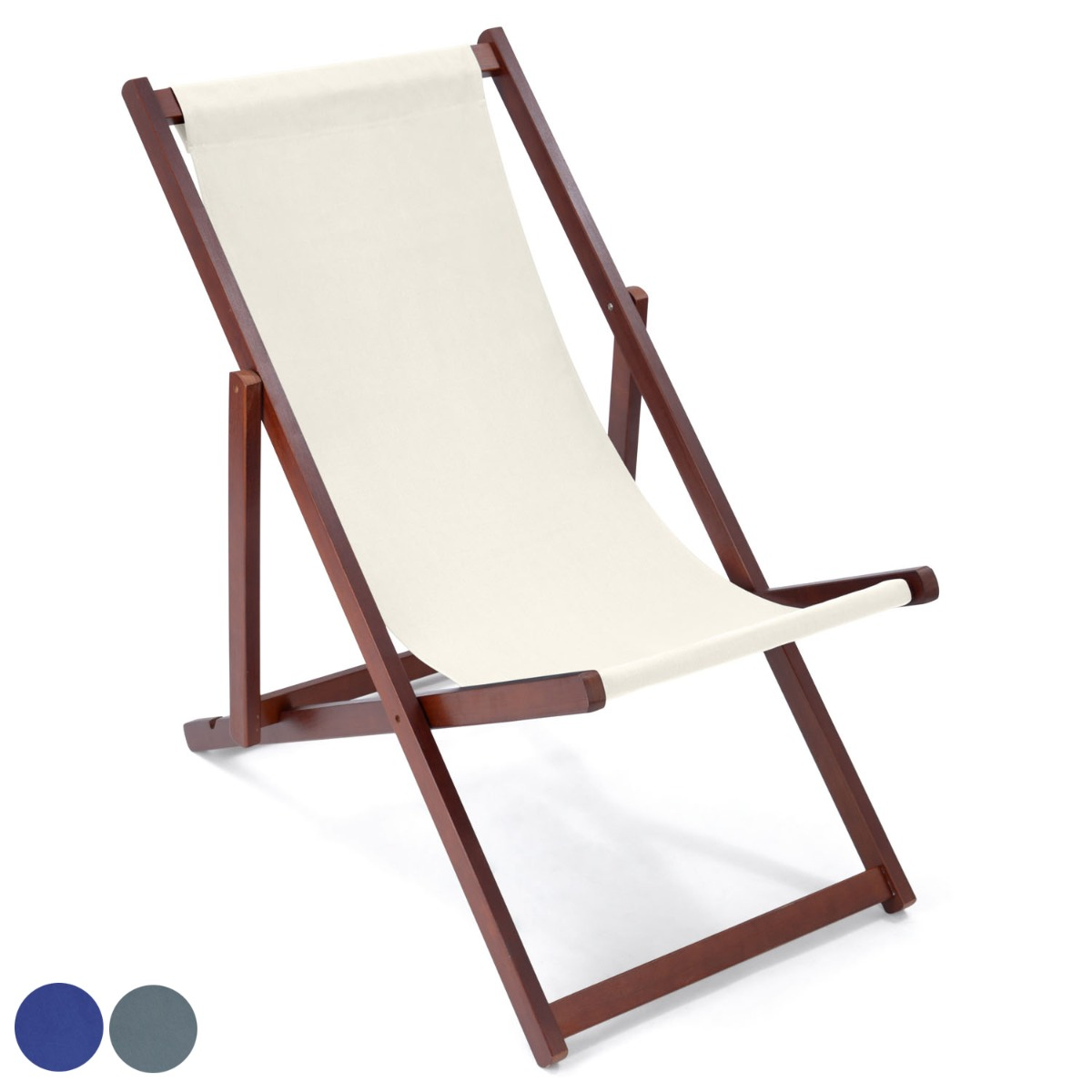Image of Christow Canvas Folding Deck Chair