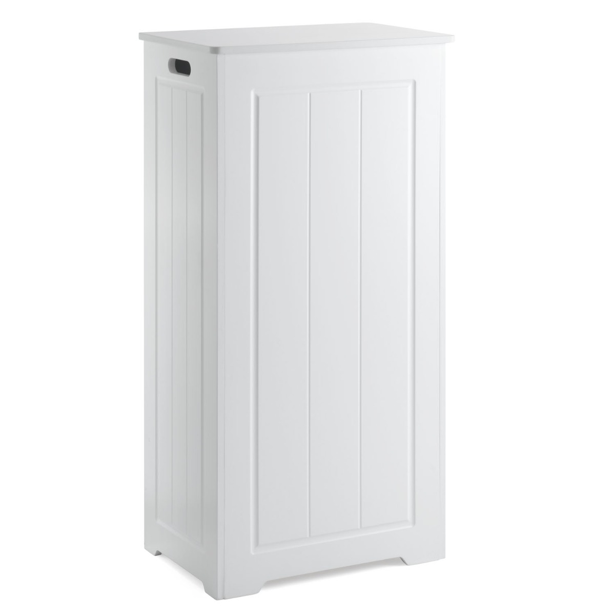 Christow White Laundry Box Wooden Bathroom Storage Basket Linen Clothes Cabinet