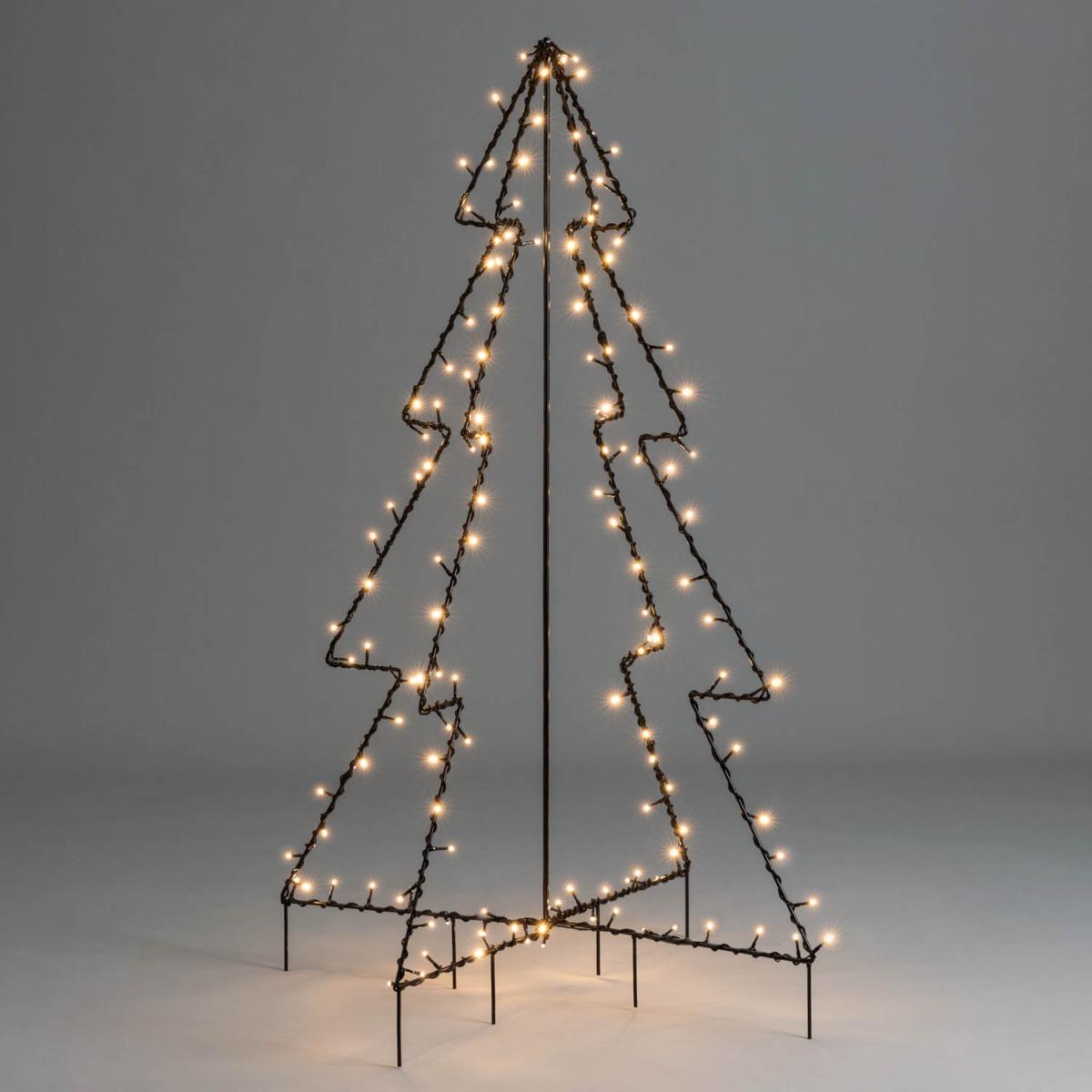 Image of Black Silhouette Christmas Tree 4ft