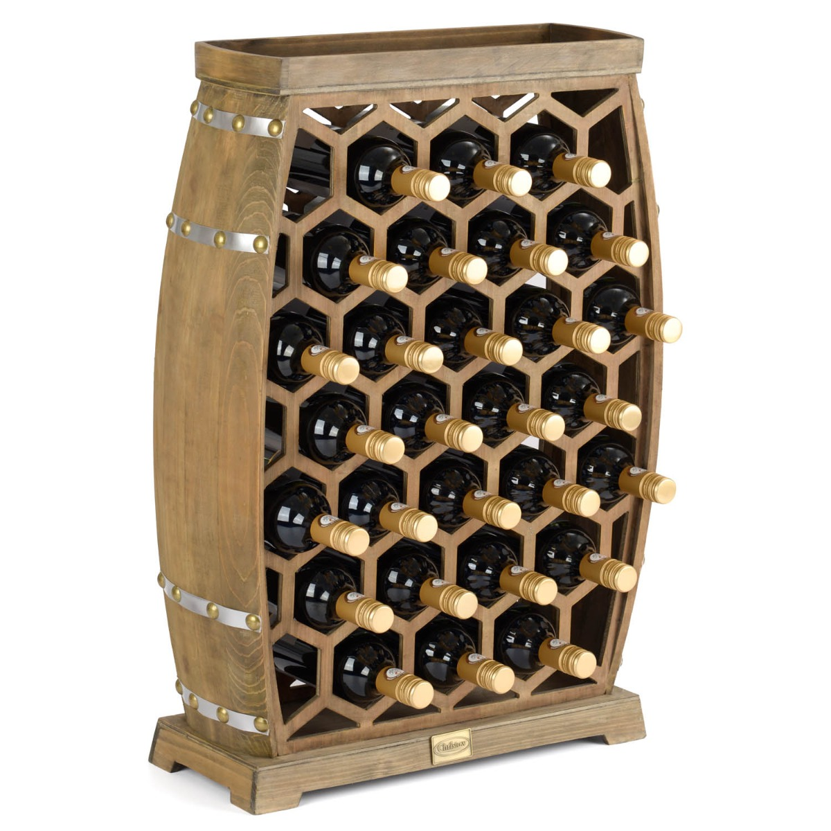 Image of 24 Bottle Honeycomb Wine Rack