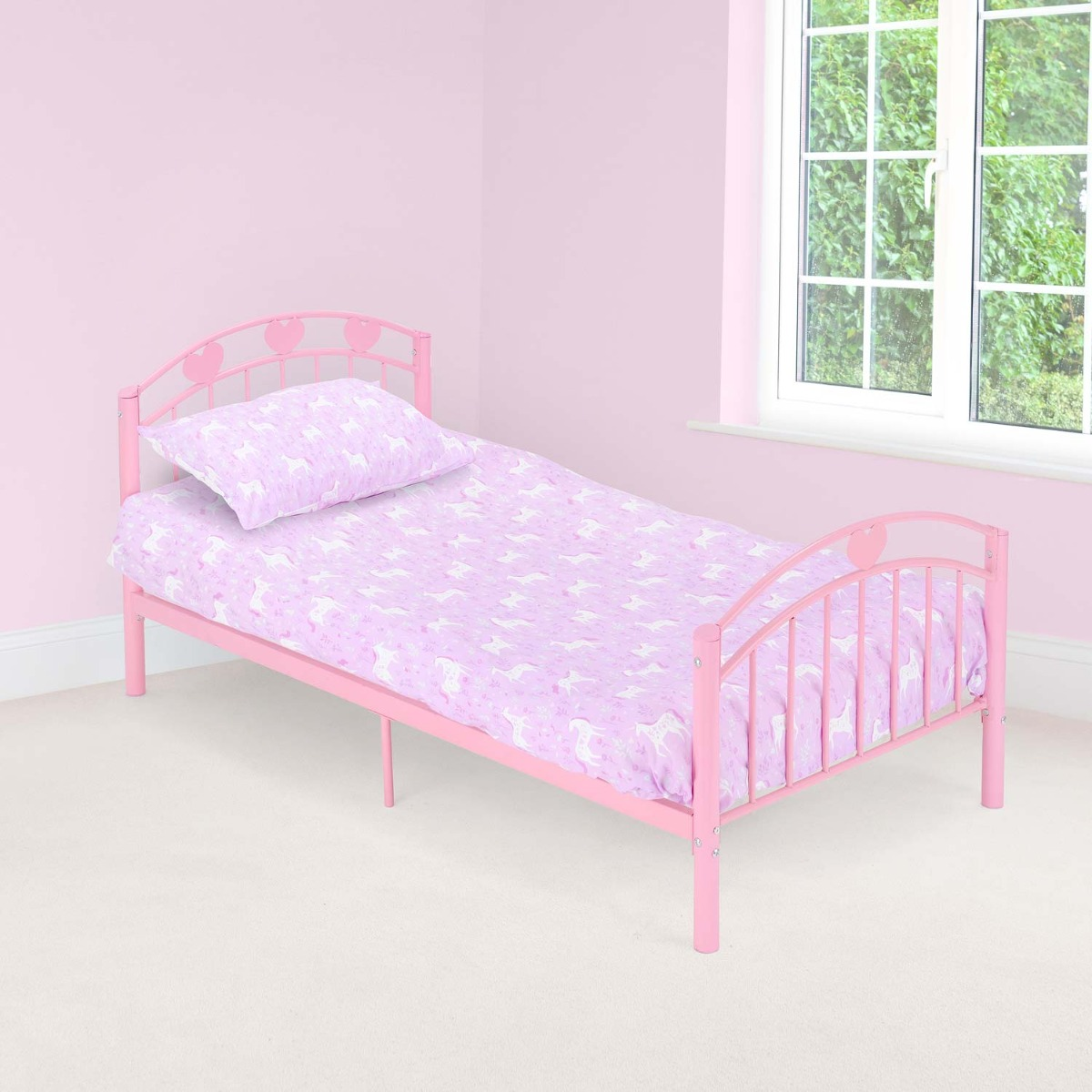 Image of Christow Pink Toddler Bed Frame