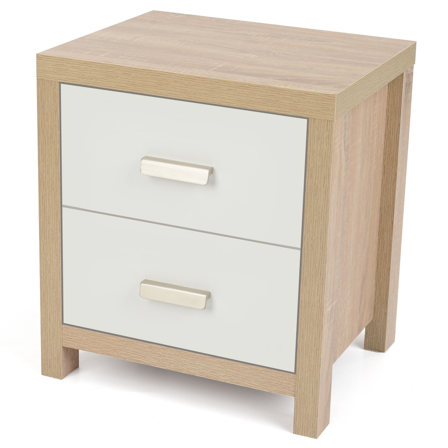 Image of Bianco Oak Effect Bedside Table