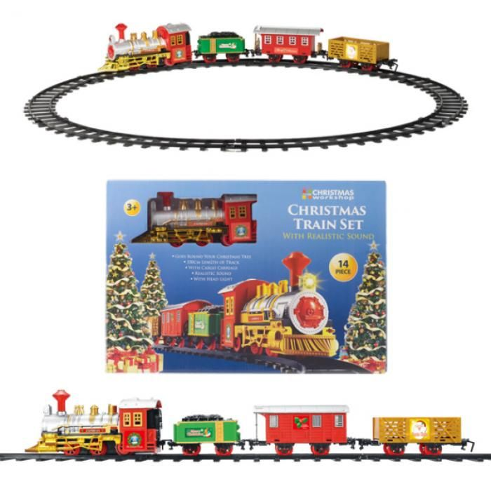 Christmas Train Set.14 Piece Christmas Tree Train Set