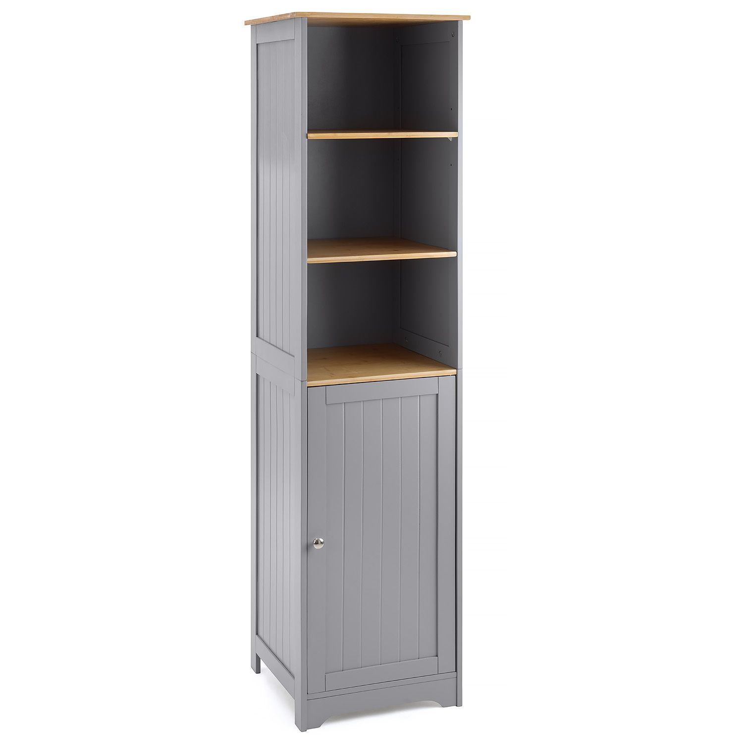 Furniture Bathroom Shelf Cabinet Grey Bamboo Freestanding Tallboy Storage Unit Christow Kisetsu System Co Jp