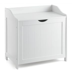 Christow White Wooden Laundry Chest