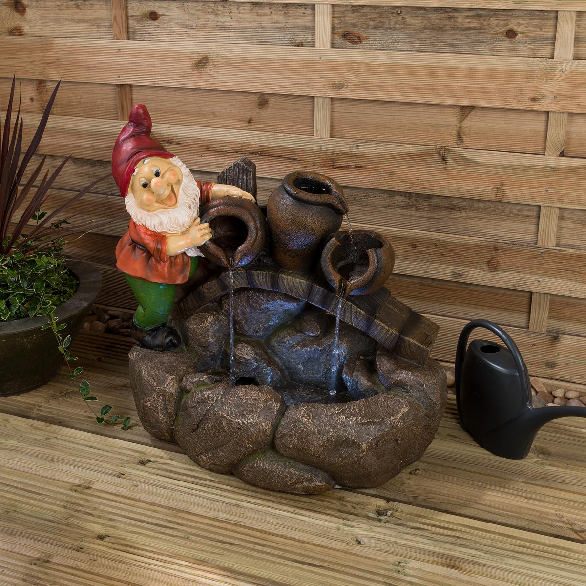 Image of Christow LED Gnome Water Feature – Norman