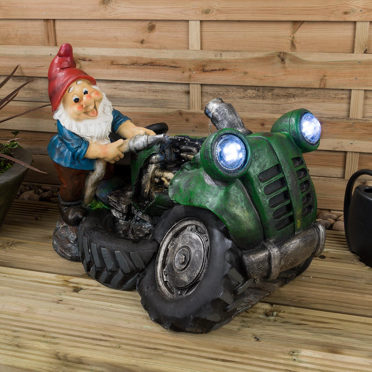 Image of Christow LED Gnome Water Feature – Nigel