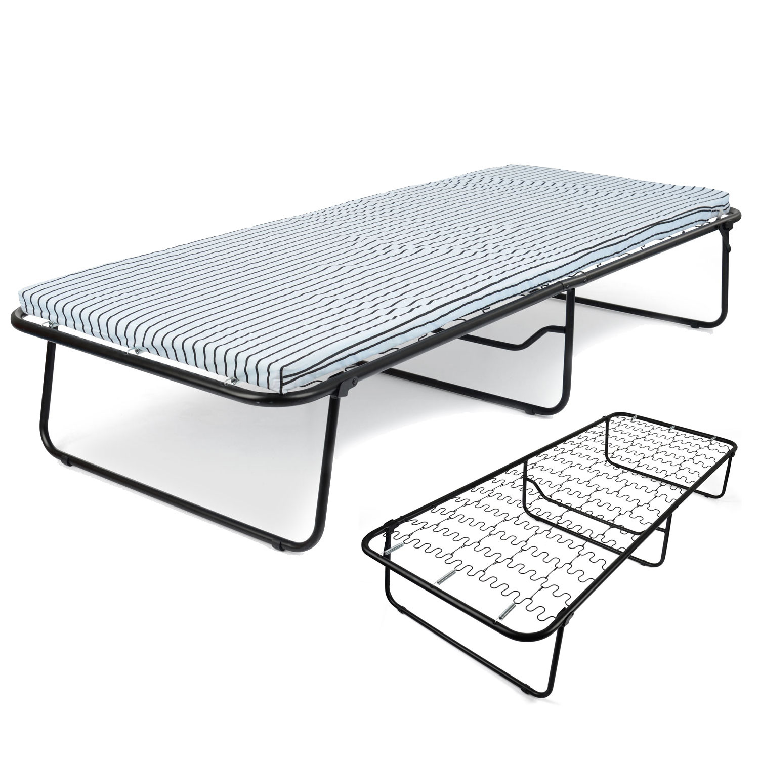 Image of Folding Single Guest Bed with Mattress
