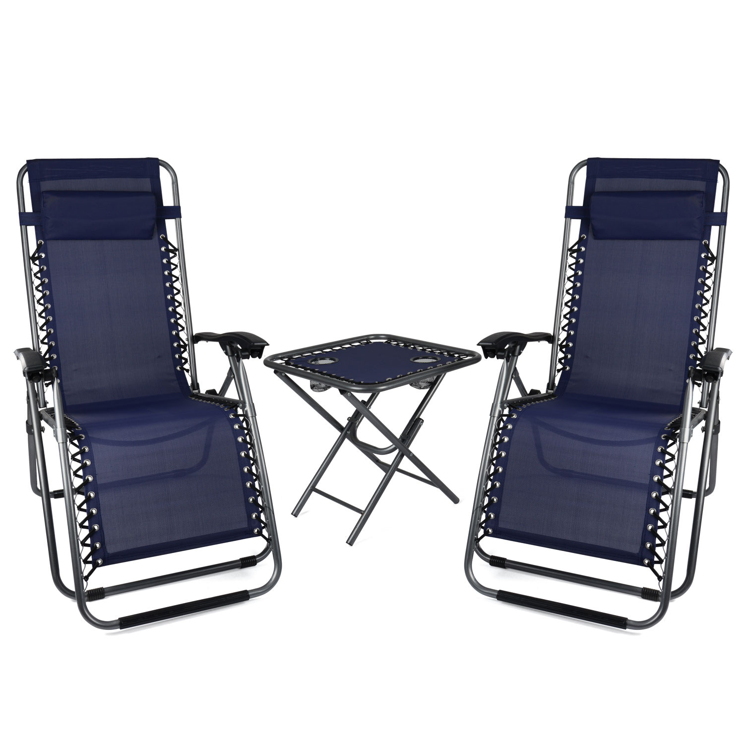 Image of Zero Gravity Chairs and Table Set - Blue